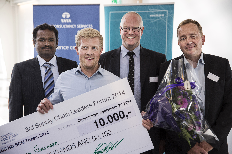 3rd Supply Chain Leaders Forum 2014 - Copenhagen DenmarkFrom left: Mr. Kathiravan Palaniappan (TATA), Christian Guldager (Winner) Henrik Knak, Kim Sundtoft Hald